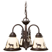 Vaxcel LK55416BBZ-C Bryce 3 Light Burnished Bronze Convertible Light Kit