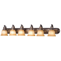 Vaxcel LS-VLD106PZ LaSalle 6 Light 48 inch Parisian Bronze Bathroom Light Wall Light