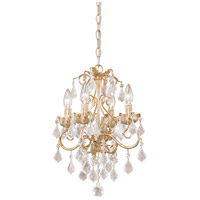 Vaxcel NC-CHU004GW Newcastle 4 Light 13 inch Gilded White Gold Mini Chandelier Ceiling Light