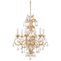 Vaxcel NC-CHU006GW Newcastle 6 Light 27 inch Gilded White Gold Chandelier Ceiling Light