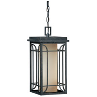 Vaxcel NP-ODD080GT Newport 1 Light 8 inch Gold Stone Outdoor Pendant