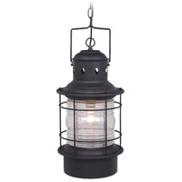 Vaxcel OD37006TB Hyannis 1 Light 10 inch Textured Black Outdoor Pendant