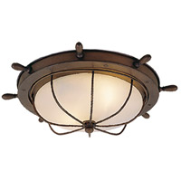 Vaxcel OF25515RC Orleans 2 Light 15 inch Antique Red Copper Outdoor Flush Mount