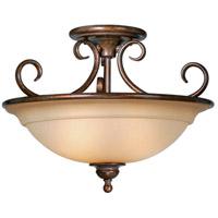 Vaxcel OM-CFU160RZ Omni 3 Light 17 inch Royal Bronze Semi-Flush Mount Ceiling Light