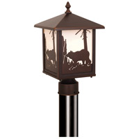 Vaxcel OP35085BBZ Bozeman 1 Light 14 inch Burnished Bronze Outdoor Post