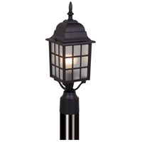 Vaxcel OP36765TB Vista 1 Light 18 inch Textured Black Outdoor Post