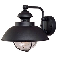 Harwich 1 Light 10 inch Textured Black Outdoor Wall Light