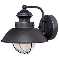 Harwich 1 Light 8 inch Textured Black Outdoor Wall Light