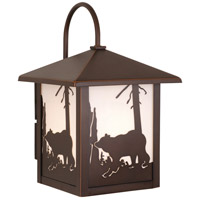 Vaxcel OW35083BBZ Bozeman 1 Light 13 inch Burnished Bronze Outdoor Wall