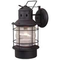 Vaxcel OW37001TB Hyannis 1 Light 22 inch Textured Black Outdoor Wall