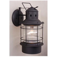 Vaxcel OW37081TB Hyannis 1 Light 18 inch Textured Black Outdoor Wall