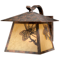 Vaxcel OW50513OA Whitebark 1 Light 12 inch Olde World Patina Outdoor Wall
