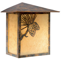 Vaxcel OW50518OA Whitebark 1 Light 9 inch Olde World Patina Outdoor Wall