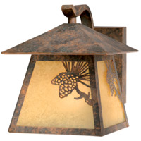 Vaxcel OW50573OA Whitebark 1 Light 8 inch Olde World Patina Outdoor Wall