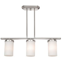Vaxcel OX-CFD280BN Oxford 3 Light 28 inch Brushed Nickel Linear Chandelier Ceiling Light