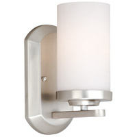 Vaxcel OX-VLU001BN Oxford 1 Light 6 inch Brushed Nickel Bathroom Light Wall Light