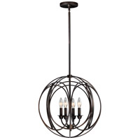 Vaxcel P0014 Solstice 4 Light 18 inch Burnished Bronze Pendant Ceiling Light