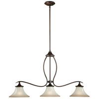Vaxcel P0026 Sonora 3 Light 36 inch Venetian Bronze Linear Chandelier Ceiling Light