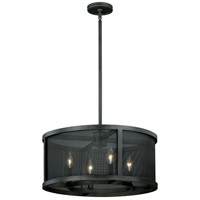 Vaxcel P0102 Wicker Park 4 Light 20 inch Warm Pewter Pendant Ceiling Light