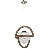 Vaxcel P0112 Mondial 1 Light 18 inch Polished Nickel Pendant Ceiling Light