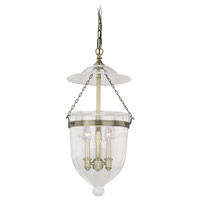 630 Series 3 Light 13 inch Antique Brass Pendant Ceiling Light