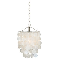 Vaxcel P0138 Elsa 1 Light 11 inch Satin Nickel Pendant Ceiling Light