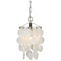 Vaxcel P0141 Elsa 1 Light 6 inch Satin Nickel Mini Pendant Ceiling Light