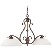 Vaxcel P0148 Hartford 2 Light 37 inch Weathered Patina Linear Chandelier Ceiling Light
