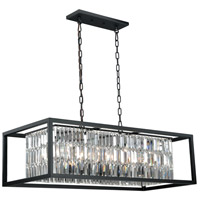 Vaxcel P0183 Catana 8 Light 40 inch Oil Rubbed Bronze Linear Chandelier Ceiling Light