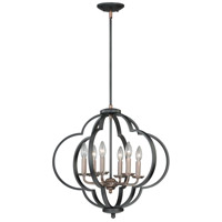 Vaxcel P0186 Amory 6 Light 23 inch Muted Copper and New Bronze Pendant Ceiling Light