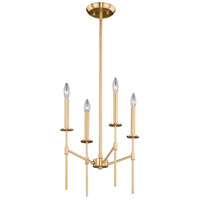 Vaxcel P0224 Kedzie 4 Light 16 inch Natural Brass Mini Chandelier Ceiling Light