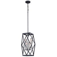 Hailey 4 Light 14 inch Black Graphite and Satin Nickel Pendant Ceiling Light