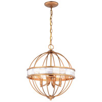 Vaxcel P0298 Anna 4 Light 16 inch Satin Gold Pendant Ceiling Light