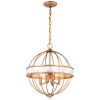 Vaxcel P0298 Anna 4 Light 16 inch Satin Gold Pendant Ceiling Light