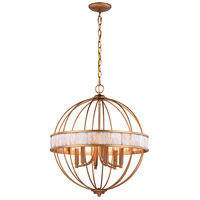 Vaxcel P0299 Anna 6 Light 20 inch Satin Gold Pendant Ceiling Light