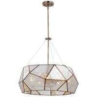 Vaxcel P0318 Euclid 5 Light 24 inch Aged Brass Pendant Ceiling Light