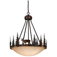 Vaxcel PD55424BBZ Bryce 4 Light 24 inch Burnished Bronze Pendant Ceiling Light