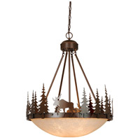 Vaxcel PD55624BBZ Yellowstone 4 Light 24 inch Burnished Bronze Pendant Ceiling Light