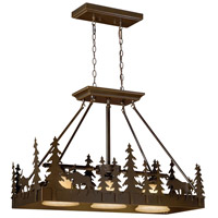 Vaxcel PD55636BBZ Yellowstone 3 Light 36 inch Burnished Bronze Linear Chandelier Ceiling Light