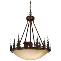 Vaxcel PD55724BBZ Bozeman 4 Light 24 inch Burnished Bronze Pendant Ceiling Light