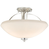 Solna 2 Light 14 inch Satin Nickel Semi-Flush Mount Ceiling Light