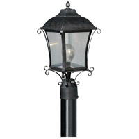 Vaxcel T0032 Sonnet 1 Light 18 inch Gold Stone Outdoor Post