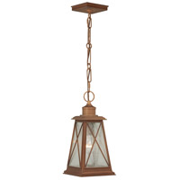 Vaxcel T0064 Mackinac 1 Light 7 inch Antique Red Copper Outdoor Pendant