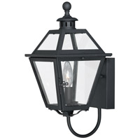 Vaxcel T0078 Nottingham 1 Light 15 inch Textured Black Outdoor Wall Light