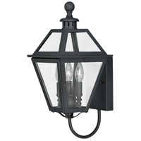 Vaxcel T0079 Nottingham 3 Light 20 inch Textured Black Outdoor Wall Light
