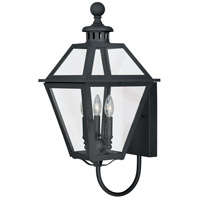 Vaxcel T0080 Nottingham 3 Light 27 inch Textured Black Outdoor Wall Light
