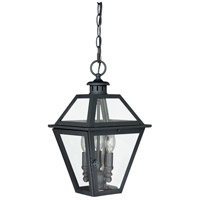 Vaxcel T0081 Nottingham 3 Light 9 inch Textured Black Outdoor Pendant