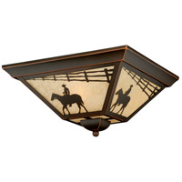 Vaxcel T0109 Trail 3 Light 14 inch Burnished Bronze Outdoor Ceiling