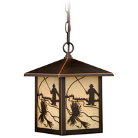 Vaxcel T0112 Mayfly 1 Light 8 inch Burnished Bronze Outdoor Pendant