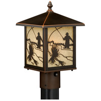Vaxcel T0113 Mayfly 1 Light 14 inch Burnished Bronze Outdoor Post